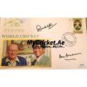 Sachin Tendulkar & Don Bradman signed FDC (Rare)