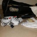 Junior Cricket Equipment + Bat (Woodworm/GM)