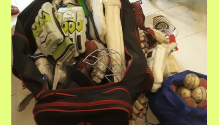 Cricket kit with bats n bags