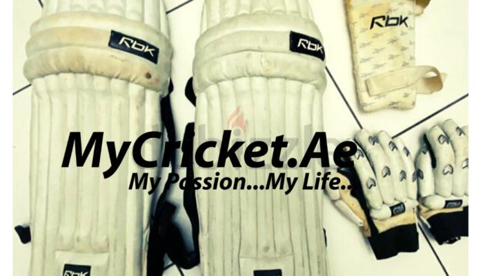 Gary Nicolls cricket pads+arm guard